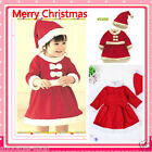 Infant Girl Reds Hood + Christmas Party Outfit Set Girls Dresses SIZE 1-2-3-4Y
