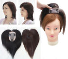 Womens Human hair Closures Toupees Simulation Scalp Top Clip in Hair extensions