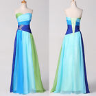 Rainbow Style~Chiffon Long Evening Prom Wedding Cocktail Party Bridesmaid Dress