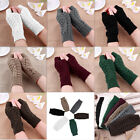 Fashion Women Knitted Fingerless Winter Gloves Unisex Soft Warm Mitten new
