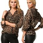 New fashion female wild leopard chiffon shirt casual shirt jacket