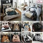 3D ANIMAL DUVET QUILT COVER PILLOW CASES BEDDING SET SINGLE DOUBLE KING