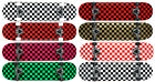 Checker Pro Maple Complete Skateboard Ready To Ride - Pick Size and Color