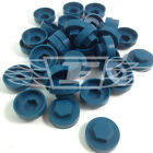 "16mm OCEAN BLUE HEXAGONAL TEK SCREW COVER CAPS TO FIT 8mm 5/16""TEK SCREWS (AL9)"