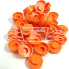 "16mm ORANGE HEXAGONAL SCREW COVER CAPS TO FIT 8mm (5/16"") TEK SCREWS (AM3)"