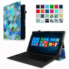 Folio Premium PU Leather Case Stand Cover for Surface Pro 4 12.3-Inch Tablet