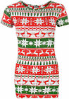 Womens Xmas Christmas Festive Snowflake Print Short Sleeve Top Ladies T-Shirt