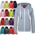 New Womens Ladies Marl Zip Hoodie Fleece Jacket Top Hooded Size S M L XL XXL