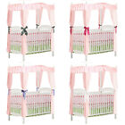 FC561 NEW CRIB SIZE BUBBLEGUM BABY PINK 4 DRAPE CANOPY COTTON FABRIC COVER TOP