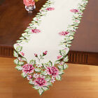 Collections Etc Embroidered Floral Rose Table Linens
