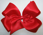 EXTRA LARGE XL King Size Red Satin Boutique Style Hair Bow