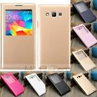 View Window Flip Leather Cover Battery Case For Samsung Galaxy Grand Prime G530