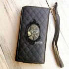 Gothic Skull phone Leather Pouch case Wallet Purse cover For iPhone 5S 6S 7 plus