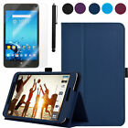 PU Leather Folio Case Cover+Screen Protector for ASUS MeMO Pad 7 LTE ME375CL