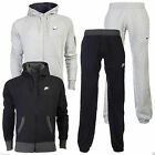 NEW MENS FLEECE BLACK GREY FOUNDATION NIKE FULL TRACKSUIT HOODED JOGGERS S - XL