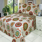 Luxury Julia Coverlet set, Wrinkle Free Printed Bedspread Set, Reversible Quilt image