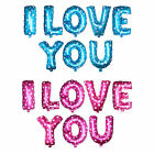 """16"""" Letters ''I Love You '' Foil Balloons Set Wedding Party Decor -Pink /Blue"""