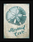 Mermaid Cove Sydney Wright 16x12 Teal Sand Dollar Framed Art Print Picture