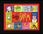 Funny Farm Sydney Wright 12x16 Kids Room Animal Sounds Framed Art Print