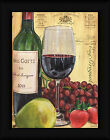 Wine and Pear Debbie DeWitt 16x12 Cabernet Sauvignon Red Grapes Framed Art Print