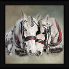 Family Forever Robin-Lee Vieira 18x18 White Horses Portrait Framed Art Print