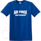 US Air Force Retired Adult's T-shirt USAF Retired Tee for Men - 1116C