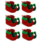 6 X ELF BOOTS PIXIE SHOES CHRISTMAS FANCY DRESS COSTUME ACCESSORY GNOME XMAS
