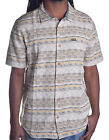 LRG Men's Cream Beige Geometric Button Up Shirt