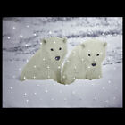 FIBRE OPTIC LED CANVAS PICTURE BEAR CABIN PENGUIN POLAR REINDEER SNOW - NEW