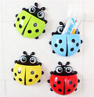Ladybug Toothbrush Toothpaste Holder Strong Sucker Shelves BA1002-1005
