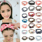 SH US Lady Girl Yoga Sports Head Band Clip Accessories Bowknot Wrap Korean Style