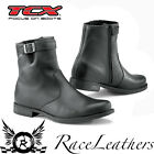 TCX X-AVENUE WATERPROOF BLACK SHORT CRUISER STYLE MOTORCYCLE MOTORBIKE BOOTS