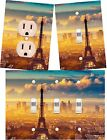 Eiffel Tower Paris light switch wall plate outlet covers custom room decor
