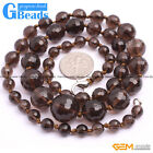 6-14mm Handmade Jewelry Graduated Faceted Round Beaded Necklace 18-22 Inches