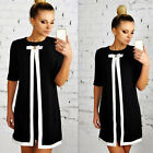 Hot Lady XL Casual Party Pullover Shirt Shift Clubwear Half Sleeve A-Line Dress