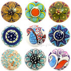 Ceramic Cabinet Cupboard Door Dresser Knobs Pulls Decorative Shabby Chic Colorfu