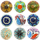 Decorative Boho Bohemian Indian Ceramic Cabinet Cupboard Door Dresser Knobs Pull