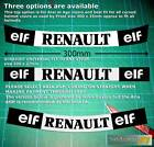 Visor Strip Sticker to fit Alain Prost Renault F1 Helmet in Straight or Curved