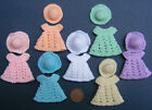 1:12 Scale Hand Made Crochet Dress & Hat Dolls House Miniature