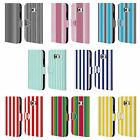 HEAD CASE DESIGNS VERTICAL STRIPES LEATHER BOOK WALLET CASE FOR SAMSUNG PHONES 1