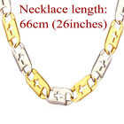 316L Stainless Steel 18K Gold Plated Cross Chain Faith Necklaces Men's Jewelry