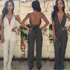 Womens Ladies Celebrity Style All In One Trouser Strappy Jumpsuit Playsuit LXJ