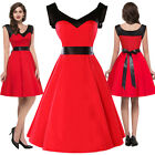 Women Vintage Bodycon Evening Cocktail 50s Party Prom Swing Summer Vintage Dress