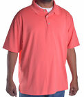 Cubavera Men's Big & Tall Knit Spiced Coral Polo Shirt