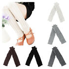 Plain Knitted Winter Women's Knit Crochet Fashion Leg Warmers Legging YS