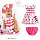 New Baby Girls Cartoon Dress+nappy cover at 6-9M,9-12M,12-18M,18-24M,3Yrs