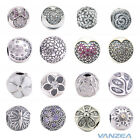 New Rose Sparkling Leaves Twinkling Night Mickey Clip Authentic Silver Charms