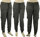 Ladies Tapered Trousers Womens Khaki Cargo Casual Pants Sizes UK 20 18 16 ex cat