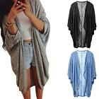 Womens Lady Casual Printed Knit Sleeve gift Sweater Coat Cardigan Jacket Куртка