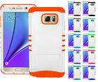 For Samsung Galaxy Note 5 - Impact Shock Proof Rubber Hard Soft Cover Case White